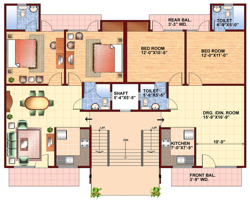 Penthouse lucknow real estate property in lucknow 250 square foot apartment floor plan