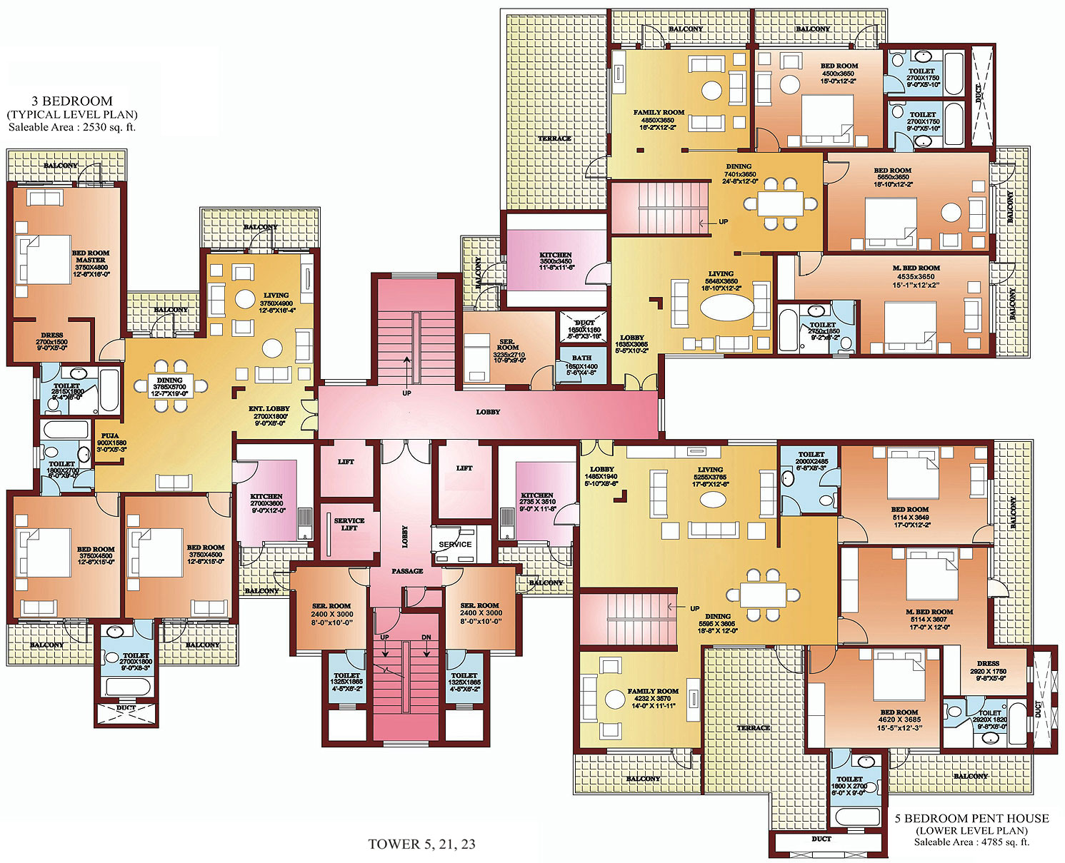 3 bhk apartments in north delhi 4 bhk apartments in for 5 bedroom house plan designs